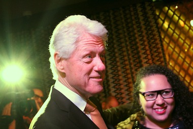 Former President Bill Clinton, who moved his personal office into Harlem in 2001, after an event announcing the launch of Harlem EatUp!, which will come to the uptown neighborhood in 2015.