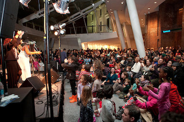 Target First Saturday at the Brooklyn Museum will feature live musical performances, an art workshop, and more.
