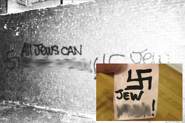 NYPD investigating anti-Semitic notes and graffiti found in Crown Heights over the weekend.
