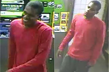 A thief clobbered a straphanger with a hammer as he was buying a MetroCard, police said.