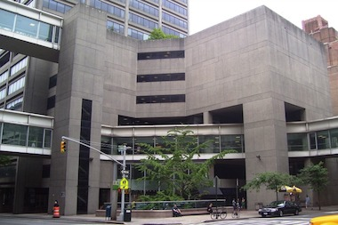 The main entrance of Hunter College on the Upper East Side.