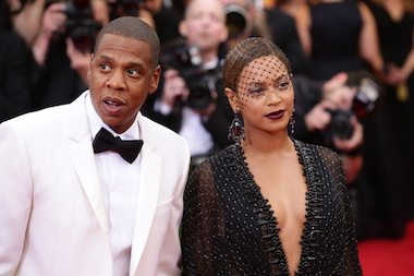 Jay Z and Beyonce attend the Met Gala on May 5, 2014.