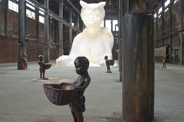 Kara Walker's exhibition at the Domino Sugar Factory opens Saturday.