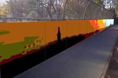 The murals will depict the Long Island shoreline and Manhattan skyline.