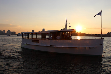 Passengers will get a firsthand look at the remnants of New York Harbor's World War II history from the deck of the yacht Kingston .