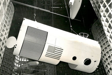 "Installation of ""Rendezvous in Space,"" 1964."