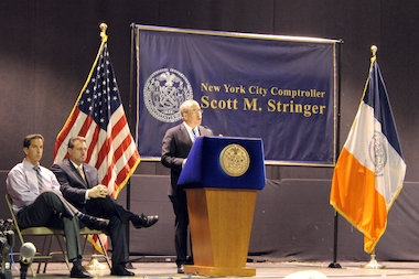 Comptroller Scott Stringer will host the latest in a series of town hall meeting aimed to get feedback from Hurricane Sandy victims about the Build It Back program on Wednesday, May 28, 2014 on Staten Island.