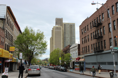 Tivoli Towers, built in 1979, is one of the tallest buildings in its immediate neighborhood in southwest Crown Heights.