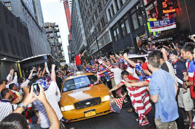 U.S. fans are planning how to get out of work for Thursday's noon showdown against Germany.