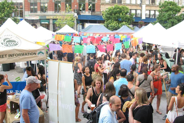 A Night Market, on a smaller scale from the one in Union Square pictured here, will pop up in the Financial District on June 19 and July 17.