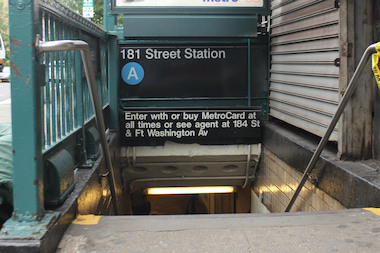 The A train will not stop at 181st Street or any other station above 168th Street for four weekends beginning June 27.