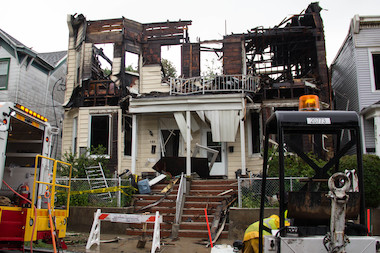 At least 34 people were injured in an early morning blaze in Rosebank on Thursday, June 5, 2014.
