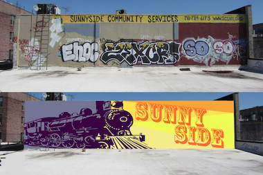 7Train Murals will paint a wall on the rooftop of Sunnyside Community Services starting on Thursday.
