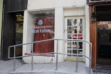 Kellner's district office on First Avenue near 73rd Street closed on Monday, June 30, 2014.
