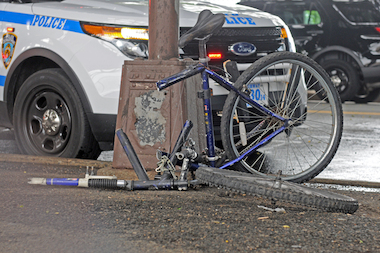 A bicyclist was struck and killed near City Field Tuesday afternoon, police said.