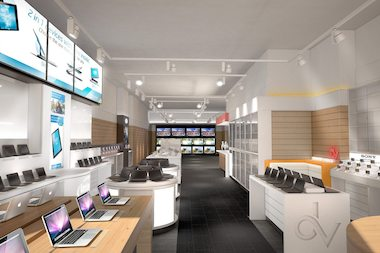 A rendering of the new DataVision store on West 23rd Street.