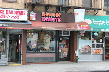 A thief stole 20 bags of coffee from this Dunkin' Donuts in Chelsea, police said.