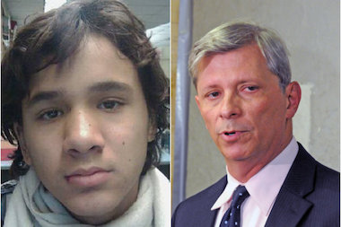 Noel Estevez, left, had been tormented by bullies for months, according to his lawyer, Eric Poulos, right.