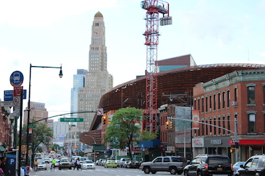 Half a dozen new businesses and building projects are coming to the blocks around Barclays Center on Flatbush Avenue this year.
