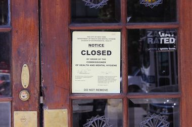 Peter McManus Cafe was shut down by the Health Department on June 16 and was still closed two days later.