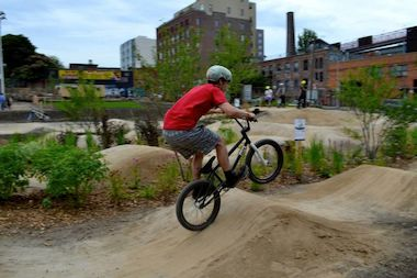 Mountain bikers can find a variety of trails within the city and beyond.