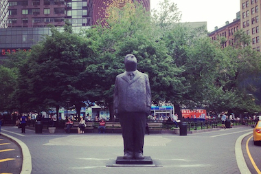 "A new sculpture called ""THINK BIG"" will be on display in Union Square through October."