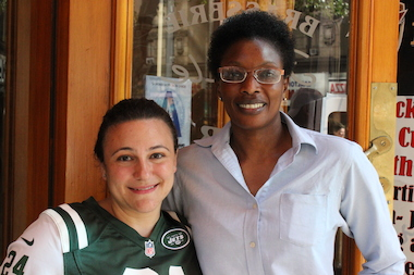 "Pigalle waitresses Octavia Dinea, left, and Mariatou ""Ceesay"" Jenkins helped police catch a serial thief in Midtown."