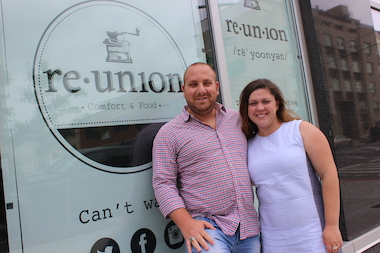 Eldad and Inna Mashiach are the owners of re.union cafe, 544 Union Ave.