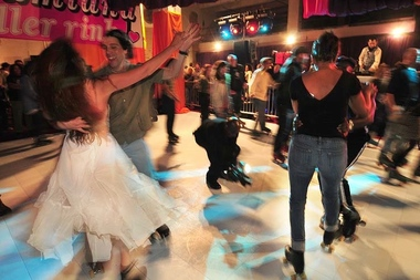 A new roller disco party will be held at the Prospect Park skating rink starting in July. Skaters shown dancing at the Dreamland Roller Disco in Coney Island, which is the inspiration behind the new party in the park.