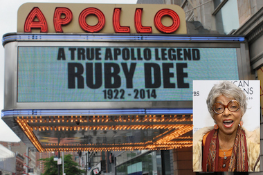 Harlem remembered the fierce and talented Ruby Dee after her death on June 12, 2014.