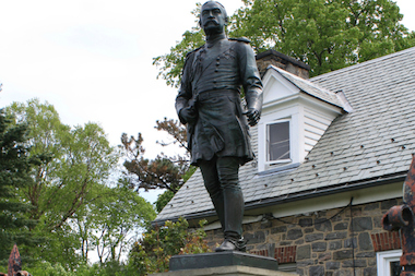The Parks Department has plans to make a replica sword to put back in the hand of the sculpture of Gen. Josiah Porter in Van Cortlandt Park. The statue, erected in 1902, originally had a sword, but the weapon disappeared around 1971.