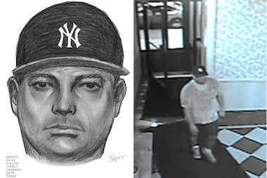 A man attacked a woman in her Forest Hills building Tuesday, police said.