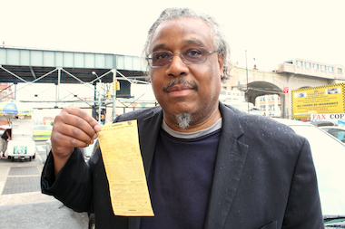Walter C. Parrish III has been ticketed six times in the past two years by city Taxi and Limousine Commission inspectors who accused him of being an illegal cab driver. He has won each case. His latest ticket was issued on June 5, 2014. At Parrish's June 19 hearing, a TLC representative withdrew the ticket and the judge dismissed the case.