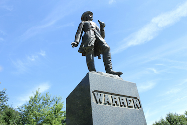 The statue of General Gouverneur Kemble Warren has been missing its sword since the 1960s. The Parks Department has plans to make a replica and refasten it to Warren's hand.