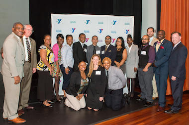 Y Roads graduates with Congressman Gregory Meeks and the YMCA and OBT staff.