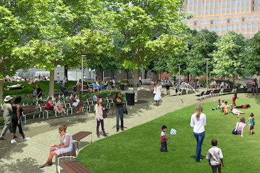 The mayor recently announced a series of projects that will transform Downtown Brooklyn's green spaces.