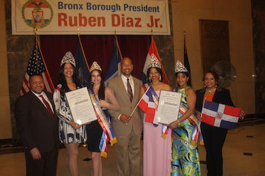 Bronx Borough President Ruben Diaz Jr. announced on Tuesday celebrations leading up to the 25th Annual Bronx Dominican Day Parade with Parade Committee Directors Felipe Febles and Rosa Ayala.
