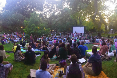 Free Thursday night movie screenings returned to Tompkins Square Park.