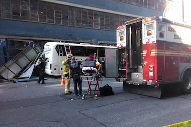 Bus Carrying Canadian Dance Group Hits Scaffold Near