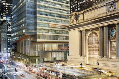 Proposed 67-story tower near Grand Central to feature glass facade, mounted landscapes, and public room.