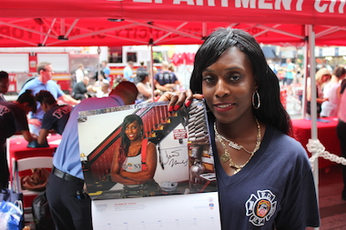 The 2015 FDNY Calendar of Heroes includes a female firefighter, Danae Mines, for the first time.