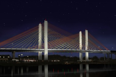 The new Koscuiszko Bridge project starts construction in the fall of 2014.