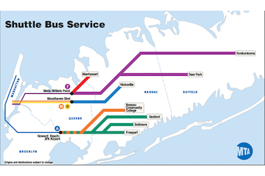 The MTA released a shuttle bus map in case of a LIRR strike, which could happen as soon as July 20.
