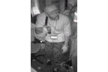 Police said this man snuck into Obao Restaurant and took cash and payroll checks from the manager's office.