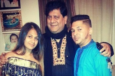 Nazmul Islam with his children.
