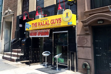 The Halal Guys, one of the most popular street carts in the city, took their famous rice-and-meat platters indoors and opened their first restaurant on E. 14th Street near Second Avenue.