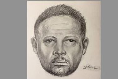 Police released this sketch of the man they say punched an off-duty NYPD detective on a subway platform Saturday evening.