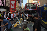 14 People Injured When Double-Decker Tour Bus Crashes in Times Square