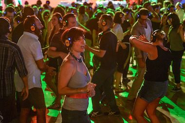 "Participants in the ""Silent Disco"" will be get headphones, which will play tunes spun by two DJs."
