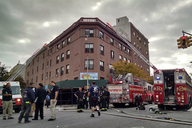 A fire erupted inside 781 Washington Ave. Wednesday morning, officials said.